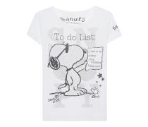Bedrucktes T-Shirt mit Strass  // To Do List White