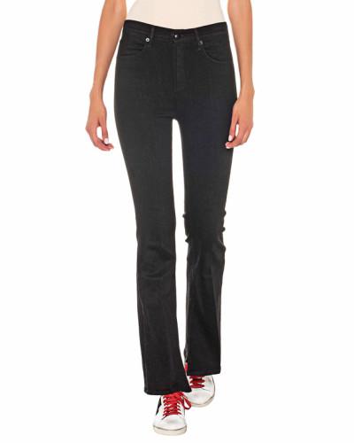 Bootcut-Jeans mit Schlitzen