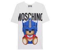 Oversize-Shirt mit Print  // Transformers Teddy Oversize White