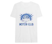 Handbemaltes Baumwoll-T-Shirt  // Motor Club White