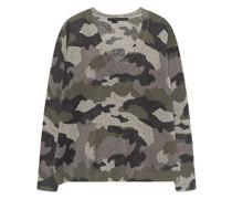 Woll-Kaschmir-Mix Pullover im Kaschmir-Design