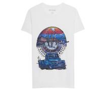 Baumwoll-T-Shirt mit Print  // Pick Up White