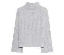 Grobstrick-Pullover aus Kaschmir  // Baylee Lightgrey