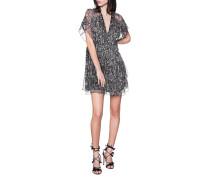 Gemustertes Mini-Kleid