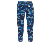 Sweatpants im Camouflage-Stil  // Fleece Camou French Blue