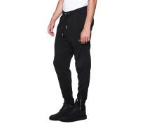 Baumwoll-Jogginghose mit Zipper-Details  // Zipper Base Black
