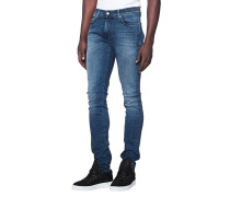Slim-fit Jeans im Washed-Out-Look  // Ronnie Luxe Performance Magnificent Mid Blue