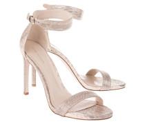Leder High-Heel Sandaletten