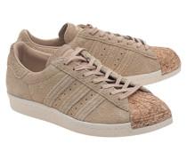 Leder-Sneakers mit Kork-Spitze  // Superstar 80S Cork Beige