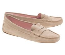 Veloursleder-Loafers  // Zahara Sand