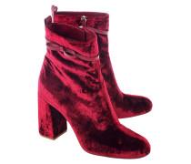Block-Heel Ankle Boots aus Samt  // Velvet Bow Lacca