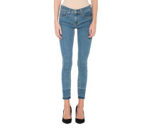 Skinny Jeans mit offenen Saum