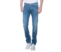 Washed-out Slim-fit Jeans  // 622 Blue