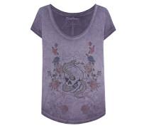T-Shirt aus Baumwoll-Mix mit Print  // Crew Neck Flower Oxblood