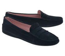 Veloursleder-Loafers  // Zahara Navy