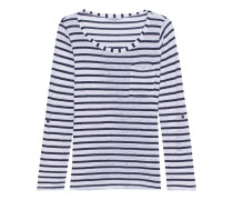 Venice Stripe Pocket Tee White Blue