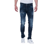 Destroyed Slim-Fit-Jeans  // Cool Guy Jean