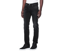 Jeans mit Washed-Out-Details  // Slimmy Luxe Performance Magnificent Washed Black
