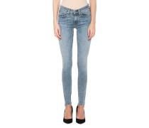 Skinny Jeans im Acid Look