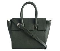 Umhängetasche aus strukturiertem Leder  // Albany Mini Shopper Malachite Green