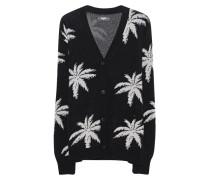 Cardigan mit Palmen-Print  // Palm Knit Black White