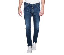 Schmale Jeans im Destroyed-Look