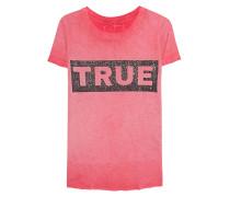 T-Shirt mit Strassstein-Verzierung  // Boxy Crew Glitter Red