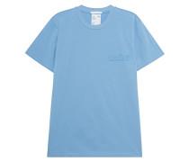 Unisex-T-Shirt mit Label-Aufdruck
