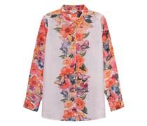 Florale Leinen-Bluse