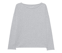Fleece Sweater Oversized Grey Melange