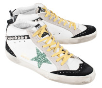 Hohe Leder-Sneakers  // Mid Star White Leather Studs