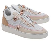 Leder-Sneakers mit Mesh-Details  // Low Top Keiko Beige