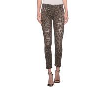 Gemusterte Skinny-Jeans  // Kate Leo
