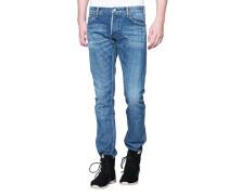Schmale Jeans mit Destroyed-Details  // Social Sculpture Blue