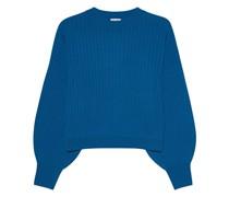 Gerippter Kaschmir-Mix Pullover