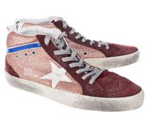 Veloursleder-High-Top-Sneaker  // Mid Star Glitter Red