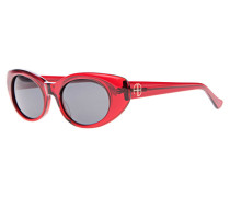 Sonnenbrille mit Label-Emblem