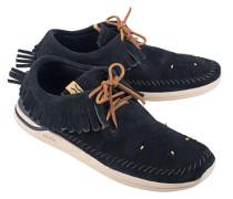 Flache Veloursleder-Sneakers  // Low Maliseet Shaman Navy
