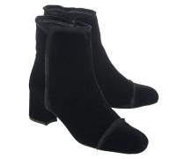 Ankle-Boots aus Samt  // Onthefringe Velvet Black