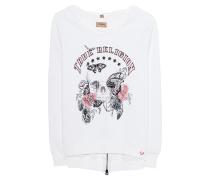 Sweatshirt mit Stickerei  // Sweater Butterfly Skull White