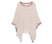 Grobstrick Poncho  // Boho Knit Sand