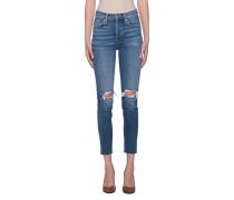 Destroyed High Waist Jeans