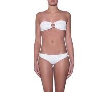 Strukturierter Bandeau-Bikini  // Evita White Pique