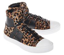Gemusterte Leder-Sneakers  // Sunset Leo