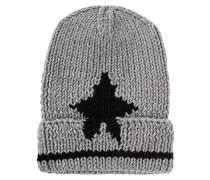 Woll-Mütze mit Stern  // Cap Star Grey Melange