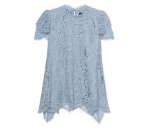 Kurzarm-Top aus französischer Spitze  // Lace Light Blue