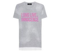 Meliertes T-Shirt mit Aufschrift
