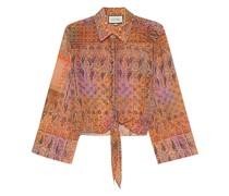 Paisley-Bluse mit Binde-Detail