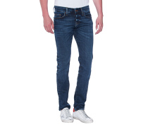 Cleane Slim-Fit-Jeans  // Rocco Relaxed Skinny Blue Selvage