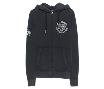 Zipper Hoodie mit Print  // Artwork Hooded Zip JKT Black
